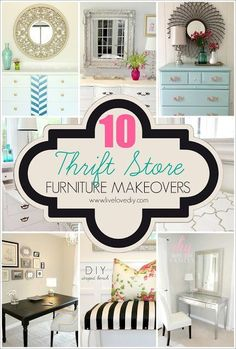 10 Thrift Store Furniture Makeovers! The story of what one blogger has learned after painting over 20 pieces of furniture....successes, failures, and everything in between! This is a great read!