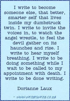 Quotable - Dorianne Laux - Writers Write Creative Blog