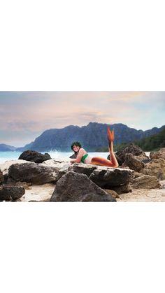 3910e677e8d Mermaid on the beach on rock Evie Allyn Photography