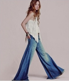 """In the 70s we called these """"elephant pants""""...I owned several pair...and used to go barefoot all the time...as no-one could tell if you were wearing shoes or not...haha!!"""