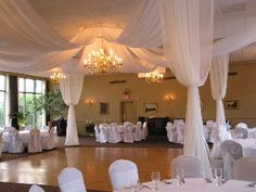 White drapery canopy at University Club in Nashville, Tennessee by www.EventsPlusNashville.com