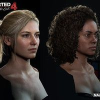Here some closeup details of the skin on main characters. Using 4k high-res capture.   Real-time rendered in game. Using Disney Diffuse model, GGX Brdf model and Screen Space Subsurface. The last pictures are the micro details maps we are using for different regions of the face.  Models of the characters showing in the post are done by talent Character team. Frank Tzeng worked on the model of Drake, Soa Lee worked on Elena.  For more details, I gave a talk at Siggraph this year July 2016…