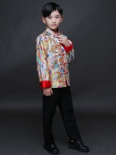 ee21eaccec Chinese traditional Tang Jacket for boys