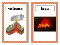 Volcano Vocabulary Word Wall - This is a set of 16 volcano vocabulary terms with pictures to post in your classroom on an volcano word wall or bulletin board. I've found that having the pictures alongside the words on my word wall has been especially helpful for my ELL students.