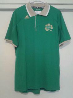 Notre Dame Fightin Irish Green Gold Polo Golf Shirt Adidas Climalite Large NEW #adidas #NotreDameFightingIrish---SOLD!!!