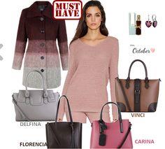 🍂🍁 Pre priaznivcov KABELKYNET prinášame módnu kombináciu na túto jeseň inšpirovanú farbou zeme spojenou s ružovým pohľadom na svet.  🍂🍁 Talianske kabelky: ➡➡