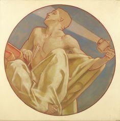 "John Singer Sargent, Study for ""History,"" Museum of Fine Arts, Boston, 1916-21, Harvard Art Museums/Fogg Museum."