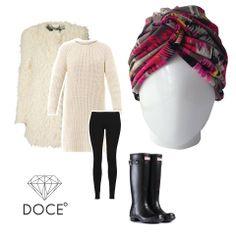 ¡Toda la actitud para el frío! Tocado Bárbara Candy Crush #cancer #fashion #turban #turbante