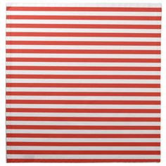 Cinnabar Color Horizontal Stripes; Striped Cloth Napkin
