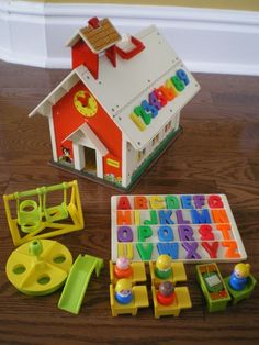 Fisher Price School House  - Are these students taking a standardized test?  And why is that teacher sitting?  Is she ill?