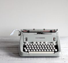Even if it's non-functional, every home needs a great vintage typewriter like this. This 1960s Hermes Typewriter was found by Reclaimer on Etsy
