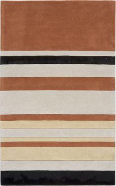 modernrugs.com tan white black striped rug