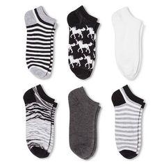 Women's Low-Cut Unicorn 6-Pack Black 4-10 - Xhilaration™ : Target - my favorite footie socks