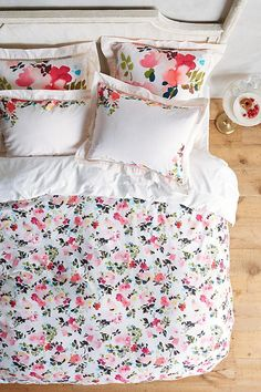 NEW Anthropologie Helen Dealtry Floral Cotton King Duvet + 2 King Shams #HelenDealtryAnthropologie