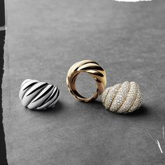 David Yurman Hampton Cable Rings