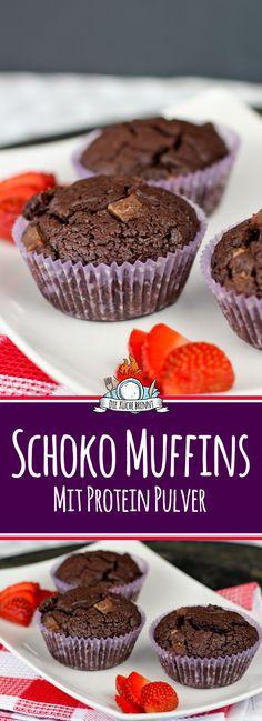 Schoko Muffins mit Proteinpulver