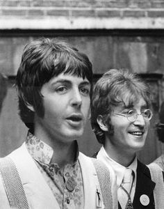Paul McCartney and John Lennon❤️