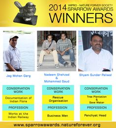 2014 Winners for Sparrow Awards!!