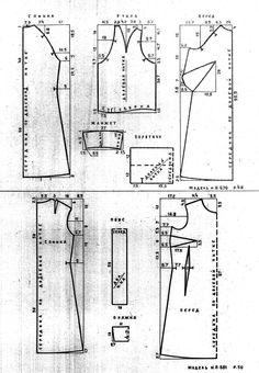 8-629b dress pattern draft