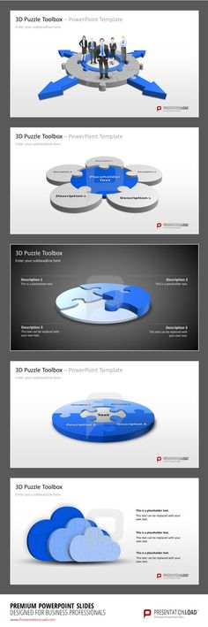 Puzzle PowerPoint Templates Display workflows and components innovatively in PowerPoint presentations    #presentationload   http://www.presentationload.com/powerpoint-charts-diagrams/puzzle-jigsaw/