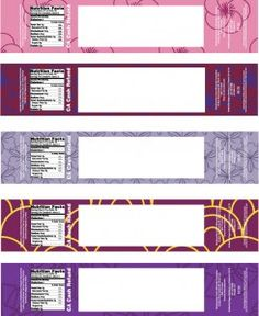 Customizable templates for water bottle labels and instructions for making them.