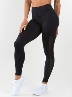 8bc5d60614 Mesh Panel Leggings · Ryder Wear Apex Tights - Black Gym Gear, Workout  Gear, Gym Workouts, Mesh