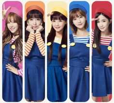 CRAYON POP - Ellin, Way, SoYul, Gummi & ChoA. Although they look like kids their all well over 20! #크레용팝