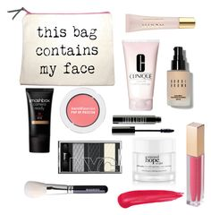 """""""School day makeup routine"""" by futurefitstudent ❤ liked on Polyvore featuring beauty, Clinique, AERIN, Bobbi Brown Cosmetics, Smashbox, Bare Escentuals, Lord & Berry, MAKE UP STORE and philosophy"""
