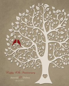 40th Anniversary Gift For Parents 8x10 By KreationsbyMarilyn