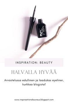 Arvostelussa edullinen ja laadukas eyeliner, kurkkaa blogista! #meikki #eyeliner #kauneusblogi #kosmetiikka