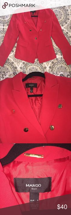 Mango Blazer Suit Jacket This blazer was not sold in USA...never worn, in perfect condition. One of Mango's most popular items. Purchased in Dubai and will be one of a kind piece in the USA.   ❌CANCER SUCKS ❌ Mango Jackets & Coats Blazers