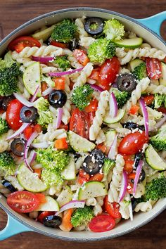 Easy Summer Salad Recipes Pasta is One Of the Liked Salad Recipes Of Several Persons Round the World. Besides Easy to Produce and Good Taste, This Easy Summer Salad Recipes Pasta Also Health Indeed. Summer Pasta Salad, Summer Salads, Summer Food, Summer Cookout Sides, Cookout Side Dishes, Fall Food, Summer Parties, Summer Ideas, Tea Parties