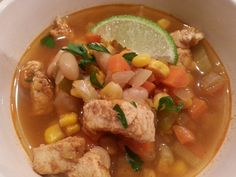 White Bean and Chicken Chili with Lime:  Freezable FUEL Soups– cook once, eat for weeks » Live Well Furman