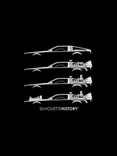 """silhouettehistory: """"Time Machine SilhouetteHistory Silhouettes of DeLorean cars: stock, and Back to the Future I-II-III Home Geek Culture, Pop Culture, Back To The Future Tattoo, The Future Movie, Where Is My Mind, Bttf, Ready Player One, Alternative Movie Posters, Science Fiction"""