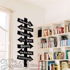 A fun way to encourage reading and dress up a wall in your home, school or church library.