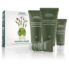 Tourmaline Charged Starter Set - skin care kit increases radiance by Aveda Aveda Hair Salon, Aveda Skin Care, Cosmetic Design, Best Natural Skin Care, Beauty Packaging, Cosmetic Packaging, Exfoliant, Normal Skin, Good Skin