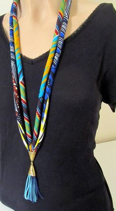 Best 12 Long Tassel Necklace – boho Necklace – Necklace Gift – Leather Tassel Jewelry – Page 717198309393341134 Tassel Jewelry, Textile Jewelry, Fabric Jewelry, Beaded Jewelry, Diy African Jewelry, African Accessories, Fabric Necklace, Boho Necklace, Leather Necklace