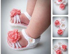 Baby Girl Crochet Sandals Free Pattern Crafts Ideas For 2019 Crochet Bebe, Baby Girl Crochet, Crochet Baby Clothes, Crochet Baby Shoes, Newborn Crochet, Crochet For Kids, Diy Crochet, Crochet World, Crochet Ideas