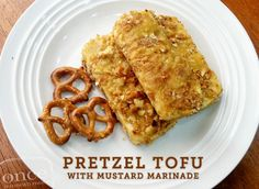 Pretzel Tofu with Honey Marinade | OAMC from Once A Month Mom