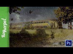 Abandoned train | Photoshop CS6 Speed Art Time Lapse video