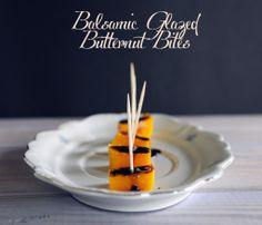 Balsamic Glazed Butternut Bites #yum #squash #balsamic #recipe #food Best Appetizer Recipes, Best Appetizers, Healthy Recipes, Balsamic Vinegar Recipes, Balsamic Glaze, Mini Foods, Butternut Squash, Food Inspiration, Food To Make