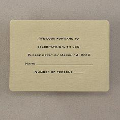 Royal Gold - Respond Card and Envelope weddingneeds.carlsoncraft.com