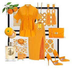 Dream in Tangerine by mzilla on Polyvore featuring polyvore, fashion, style, Victoria, Victoria Beckham, Altuzarra, Oscar de la Renta, Diane Von Furstenberg, Astley Clarke, Allurez, Atkinsons, Tony Moly, Pop Beauty, Universal Lighting and Decor, women's clothing, women's fashion, women, female, woman, misses and juniors
