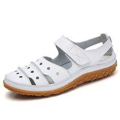 143f2f6b5e2ebc Z.SUO Sandales Femmes Plates Cuir Casuel Confort Mocassins Loafers  Chaussures de Conduite La Mode