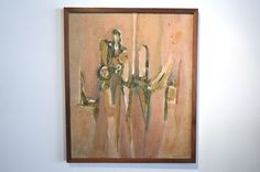 """Mid Century Modern Abstract Painting - Framed Oil on Canvas Signed """"Levinson"""""""
