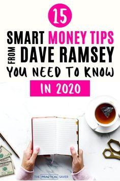Dave Ramsey Tips: 15 Best Smart Money Tips - Finance tips, saving money, budgeting planner Ways To Save Money, Money Tips, Money Saving Tips, Money Budget, Managing Money, Money Hacks, Budgeting Finances, Budgeting Tips, Budget Planer