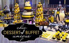 Boutique Affairs Yellow & Black Dessert Buffet