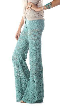 Nightcap Clothing :: Nightcap Clothing Spanish Lace Fan Pant