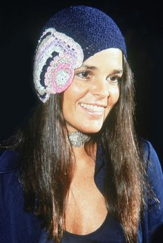 Ali McGraw. THAT shot. I took up crochet and knitting because of this...It started my hat obsession. I loved her preppy/haute hippie look circa Love Story