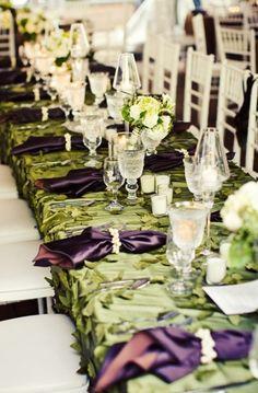 green and bronze wedding | Modern, Elegant Green & Brown Fall Wedding (Fall) - Loverly